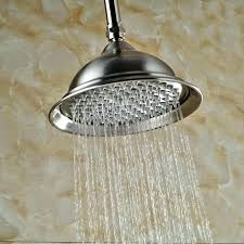 ceiling mounted shower head ceiling mounted shower head solid brass brushed nickel 8 round rain shower ceiling mounted shower head