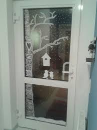 Haustür Mit Kreidemarker Bemalt Deko Weihnachten Fenster
