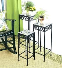 outdoor plant stands tiered stand indoor tall metal plus stool pedestal