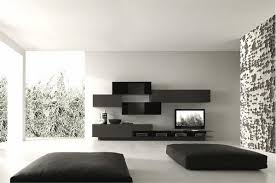 white room with black furniture. Minimalist Living Room Furniture Lovely Ideas Black White Wall With