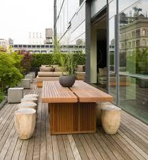 Modern Outdoor Benches Contemporary Dining Table With Umbrella Sofa