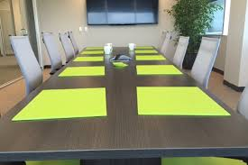 lime green office accessories. Custom Table Mats On Conference Lime Green Office Accessories