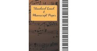 Print Out Blank Music Sheet Standard Lined Manuscript Paper 8 5 X 11 Music Song