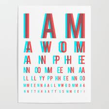 I Am A Woman Phenomenally Phenomenal Woman Thats Me Eye Chart Poster By Mensijazz