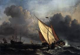 ships on a stormy sea 1672 willem van de velde oil painting