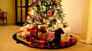 choo choo train under the christmas tree