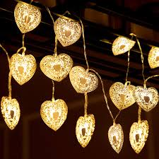 20 Led Lights Battery Operated Blulu 20 Led Love Heart String Lights Battery Operated Outdoor Decorative Light 10 76 Ft Warm White For Dry Patio Garden Party Wedding Decoration