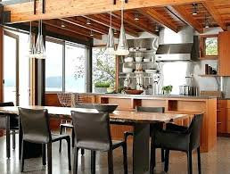 dining table west elm rustic industrial kitchen with stainless steel and live edge dining jensen round