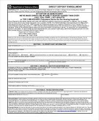 Social Security Direct Deposit Form Cool Social Security Direct Deposit Form Samples 44 Free Documents In PDF