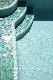 aqua iridescent glass tile iridescent pool tile glass tile pool waterline manufactured renaissance collection green iridescent