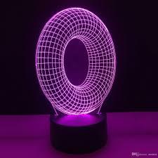 2019 O Shape Letters 3d Illusion Led Lamp Letters Decoration Light