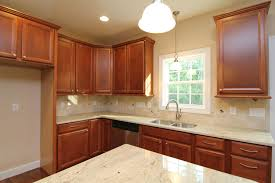 Medium Brown Kitchen Cabinets All Brick Two Story Home Apex Home Builders Stanton Homes