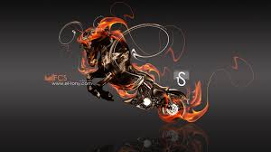 harley davidson blue fire moto horse sb