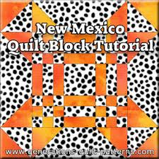 New Mexico Quilt Block: Pattern in 3 sizes & The New Mexico quilt block tutorial begins here. Adamdwight.com