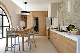 Farmhouse Armoire Kitchen Contemporary With Exposed Stones Wall Mur