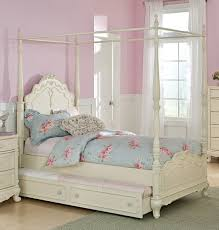 Beautiful Canopy Bed For Girls Including Homelegance Fpp Cinderella White Full Trends  Picture