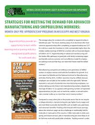 Best Careers For Women Strategies For Meeting The Demand For Advanced Manufacturing