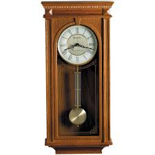 bulova 24 25 in h x 11 25 in w pendulum chime wall clock