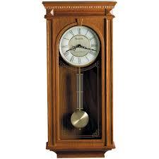bulova 24 25 in h x 11 25 in w pendulum chime wall clock