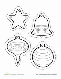 Christmas Tree Ornaments Printable Templates Coloring Pages Ornament