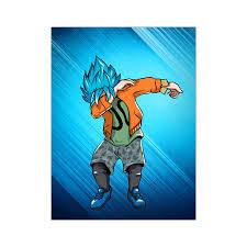 dabb dance. super saiyan - goku ssj god blue dab dance poster 18x24 tl00974po dabb a