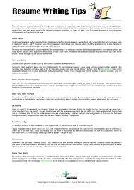 Resume Writing Tips Resume Templates