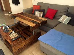 diy pallet lift up top coffee table