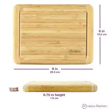 bamboo cutting board with juice groove small