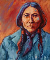 native american chief painting by theresa paden
