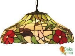 tiffany flush ceiling lights uk. oaks lighting \u0027peonies\u0027 tiffany ceiling light - ot 1345/16 p none flush lights uk