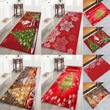 floor mat flannel carpet rug non slip xmas decor 5sizes