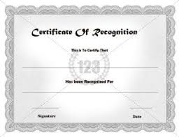 certificate of recognition templates the 25 best certificate of recognition template ideas on