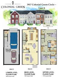 townhouse floor plans. Colonial Green Townhouse Floor Plans S