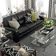 leather furniture living room ideas. Casual And Comfortable Iving Room Decoratin Ideas With Black Leather Sofa Furniture Living D