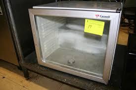 caravell glass door countertop freezer