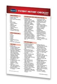 Family Medical History Chart Details About Patient History Checklist Medical Pocket Chart Quick Reference Guide