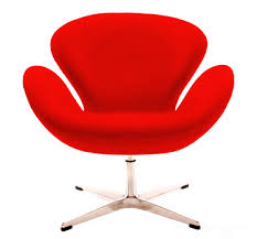 red retro chairs. Retro Swan Chair (Red Chair) Red Chairs N