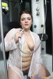 Chubby Teen Masturbates Shower