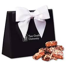 english er toffee in black white triangular gift box