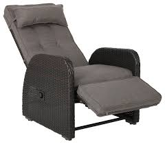 Odina Outdoor Recliner Contemporary Outdoor Lounge Chairs by