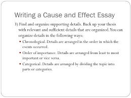 definitions and essay format cause and effect writing  ppt download