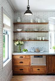rustic kitchens with open shelving brick stone wood and concrete beautiful rustic kitchens