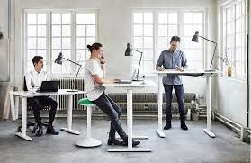 BEKANT standing desk by IKEA ergonomic office furniture design ideas