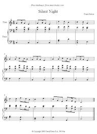 sheet music silent night flute silent night flute sheet music 8notes com