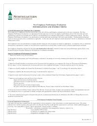 New Employee Evaluation Template Free Sample Employee Evaluation Templates At Allbusinesstemplates Com