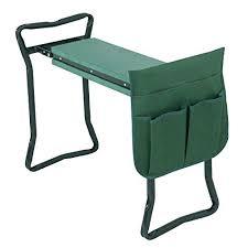 gardening bench kneeler folding garden seat stool kneeling pad cushion and tool pouch portable gardening bench gardening bench