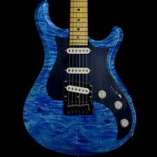 Knaggs Chesapeake Severn Quilt Top Electric Guitar in Faded Blue ... & Knaggs Chesapeake Severn Quilt Top Electric Guitar in Faded Blue Jean, Tier  3 Adamdwight.com