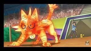ashs torracat evolves into incineroar episode 143 ash vs kukui pokemon sun  and moon amv Chords - Chordify