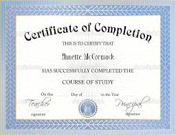 17 Certificate Of Completion Templates Free Download