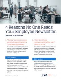 Employee Newsletter Four Reasons No One Reads Your Employee Newsletter